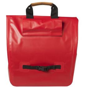 Basil Urban Dry Shopper Luggage Carrier Bag 25L, signal red